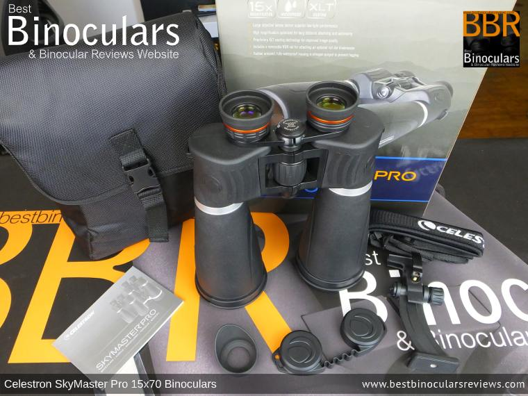 Celestron SkyMaster Pro 15x70 Binoculars and Accessories