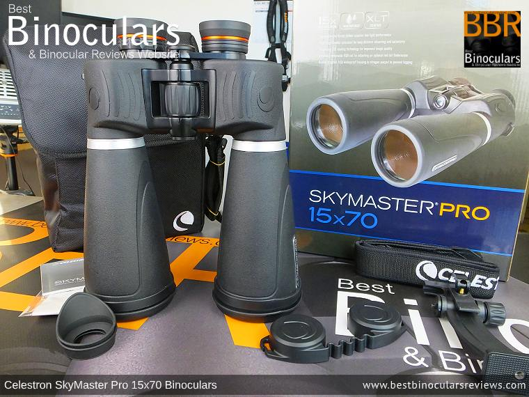 Accessories & Box for the Celestron SkyMaster Pro 15x70 Binoculars