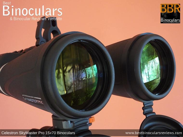 70mm Lenses on the Celestron SkyMaster Pro 15x70 Binoculars