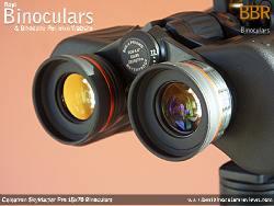 Ocular lenses on the Celestron SkyMaster Pro 15x70 Binoculars