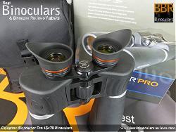 Side shield eyecups on the Celestron SkyMaster Pro 15x70 Binoculars