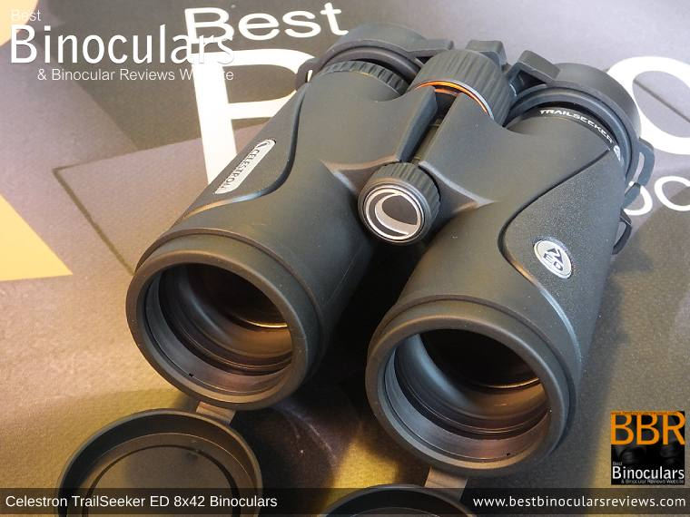 42mm Objective Lenses on the Celestron TrailSeeker ED 8x42 binoculars