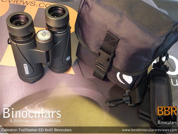 Inside the Celestron TrailSeeker ED 8x42 binoculars Carry Case