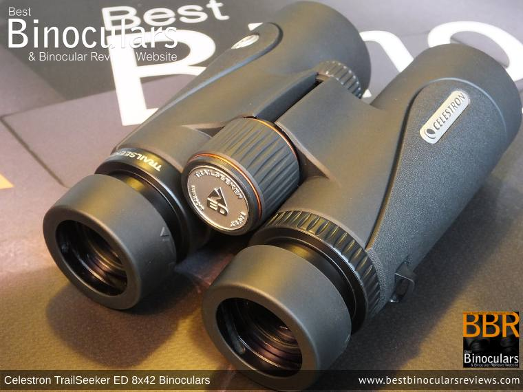Focus Wheel on the Celestron TrailSeeker ED 8x42 binoculars