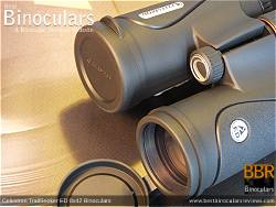 Objective Lens Covers on the Celestron TrailSeeker ED 8x42 binoculars