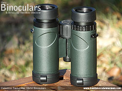 Underside of the Celestron Trailseeker 10x32 Binoculars