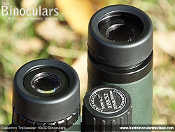 Eyecups on the Celestron Trailseeker 10x32 Binoculars
