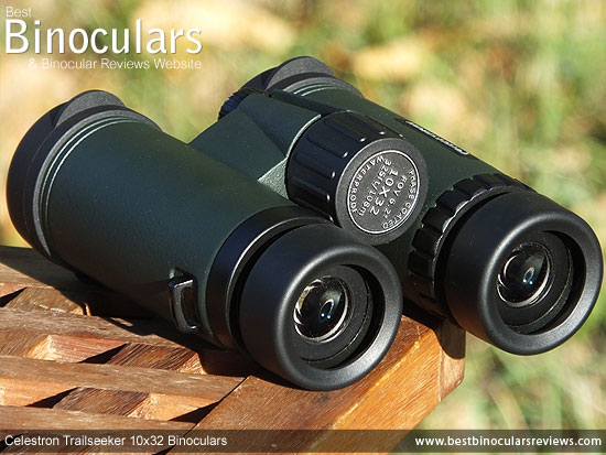 Focus Wheel on the Celestron Trailseeker 10x32 Binoculars
