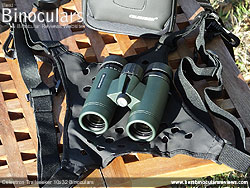 Binocular Harness included with the Celestron Trailseeker 8x42 Binoculars