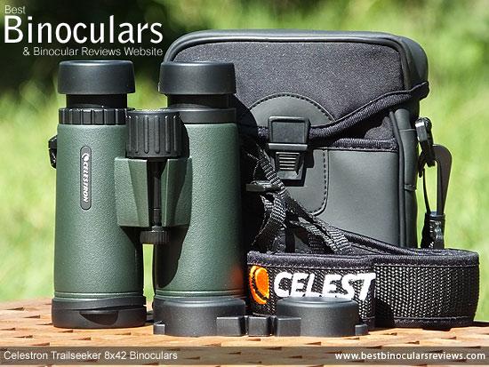 Carry Case & Neck Strap for the Celestron Trailseeker 8x42 Binoculars