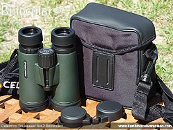 Rear view of the Carry Case for the Celestron Trailseeker 8x42 Binoculars