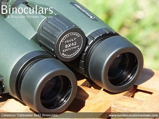 Focus Wheel on the Celestron Trailseeker 8x42 Binoculars
