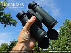 Rear of the Celestron Trailseeker 8x42 Binoculars