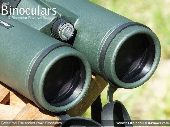 42mm Objective Lenses on the Celestron Trailseeker 8x42 Binoculars