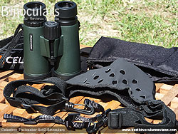 Binocular Harness included with the Celestron Trailseeker 8x42 Binoculars