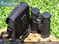 Rear view of the Carry Case & Eagle Optics Denali 8x42 Binoculars