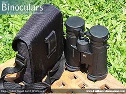 Rear view of the Carry Case & Eagle Optics Denali 8x42 Binoculars