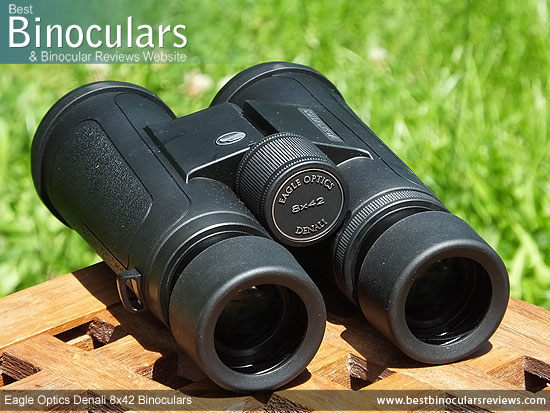 Focus Wheel on the Eagle Optics Denali 8x42 Binoculars