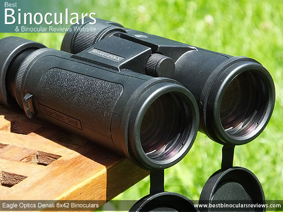 42mm Objective Lenses on the Eagle Optics Denali 8x42 Binoculars