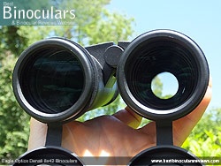 Reverse view through the Eagle Optics Denali 8x42 Binoculars