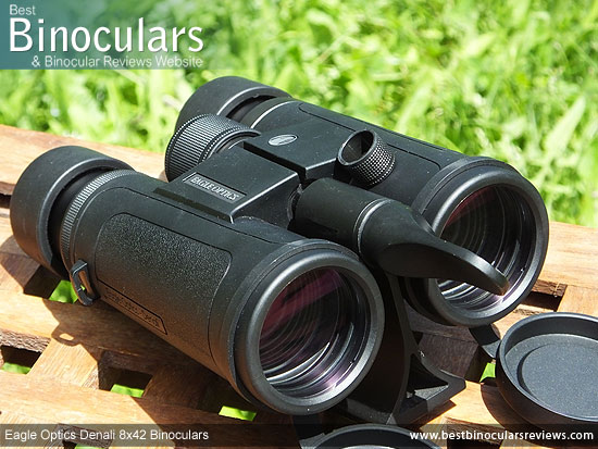 Tripod adapter fixed to the Eagle Optics Denali 8x42 Binoculars