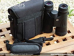 Rear view of the Carry Case for the Eagle Optics NEW Ranger ED 8x42 Binoculars