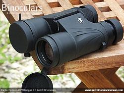 Lens Covers on the Eagle Optics NEW Ranger ED 8x42 Binoculars