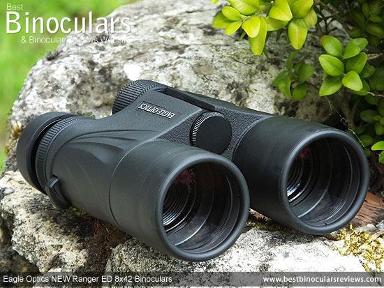 42mm Objective Lenses on the Eagle Optics NEW Ranger ED 8x42 Binoculars