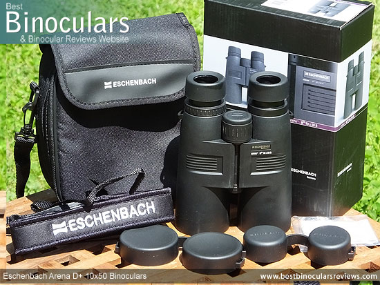 Eschenbach Arena D+ 10x50 Binoculars with accessories