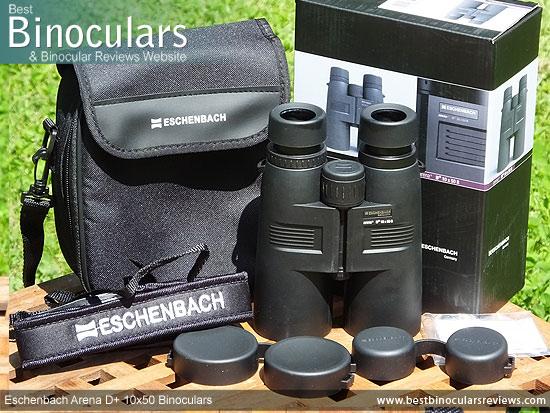 Eschenbach Arena D+ 10x50 Binoculars with accessories