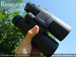 Me holding the Eschenbach Arena D+ 10x50 Binoculars