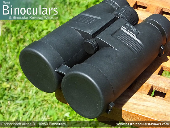 Lens Covers on the Eschenbach Arena D+ 10x50 Binoculars