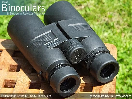 Rear view of the Eschenbach Arena D+ 10x50 Binoculars