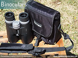 Rear view of the Carry Case & Eschenbach Trophy D 8x42 ED Binoculars