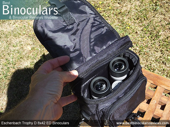Inside the Eschenbach Trophy D 8x42 ED Binoculars Carry Case