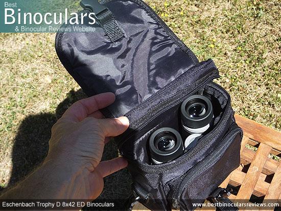 Inside the Eschenbach Trophy D 8x42 ED Binoculars Carry Case