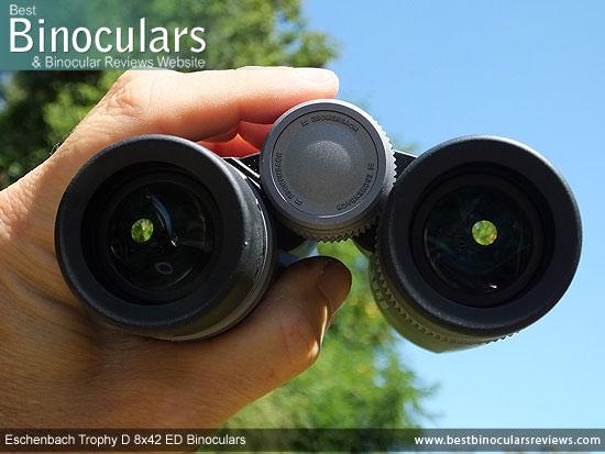 Adjusting the Focus Wheel on the Eschenbach Trophy D 8x42 ED Binoculars