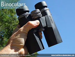 Open bridge design on the Eschenbach Trophy D 8x42 ED Binoculars