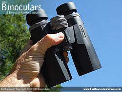 Open bridge design on the Eschenbach Trophy D 8x42 ED Binoculars