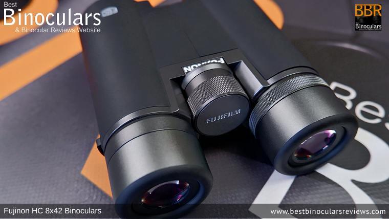 Focus Wheel on the Fujinon HC 8x42 Binoculars