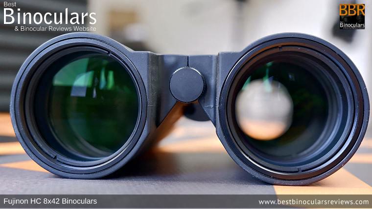 Objective Lenses on the Fujinon HC 8x42 Binoculars