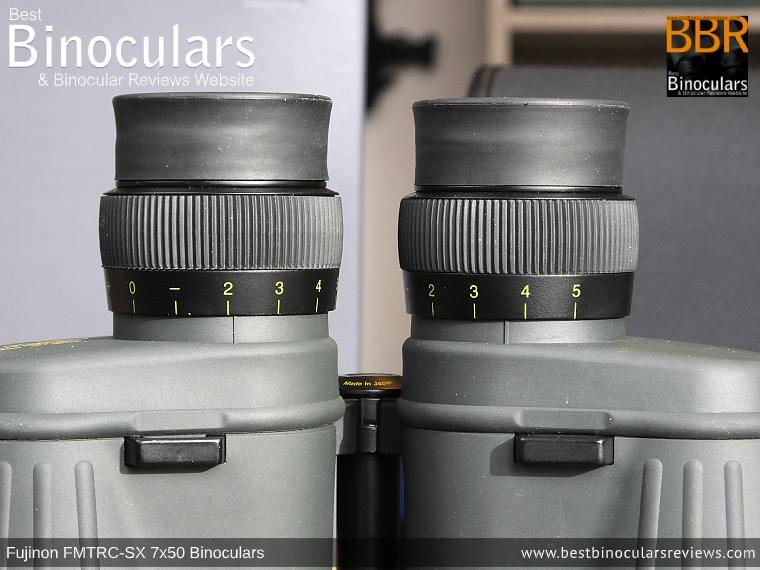 Diopter Adjustment on the Fujinon Polaris 7x50 FMTRC-SX binoculars