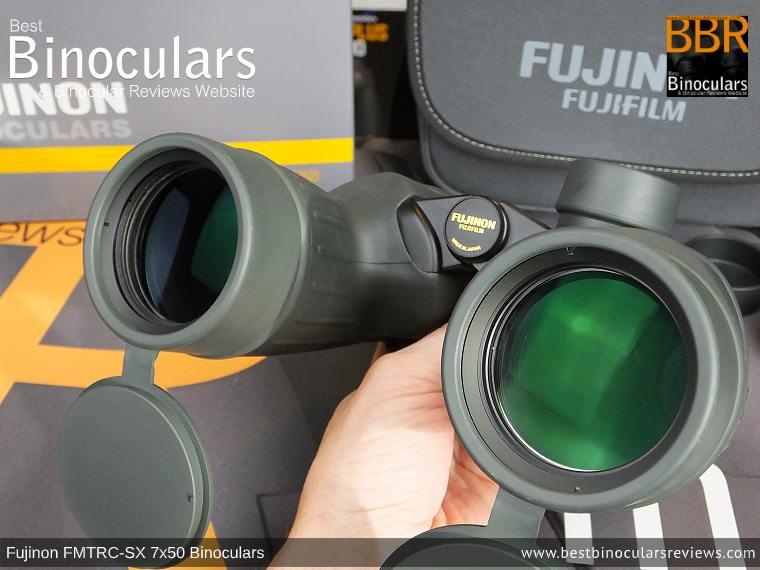 Objective Lenses on the Fujinon Polaris 7x50 FMTRC-SX binoculars