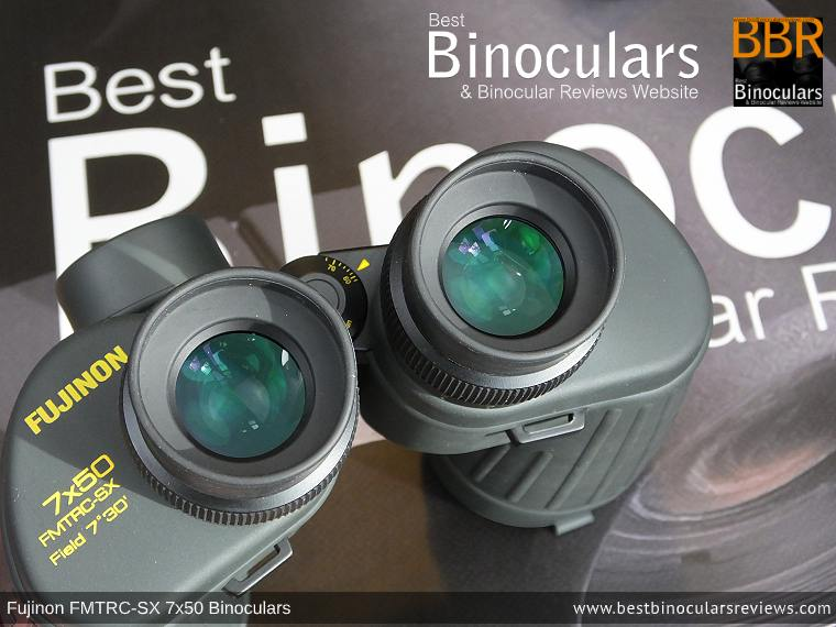 Ocular Lenes on the Fujinon Polaris 7x50 FMTRC-SX binoculars