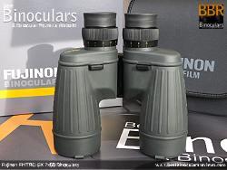 Underside view of the Fujinon Polaris 7x50 FMTRC-SX binoculars