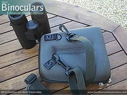 Rear view of the Carry Case & GPO Passion ED 8x42 Binoculars