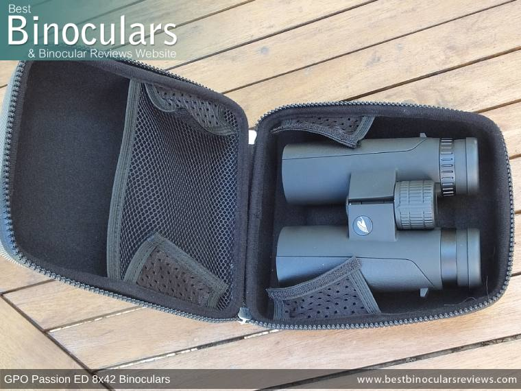 Inside the GPO Passion ED 8x42 Binoculars Carry Case