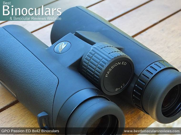 Focus Wheel on the GPO Passion ED 8x42 Binoculars