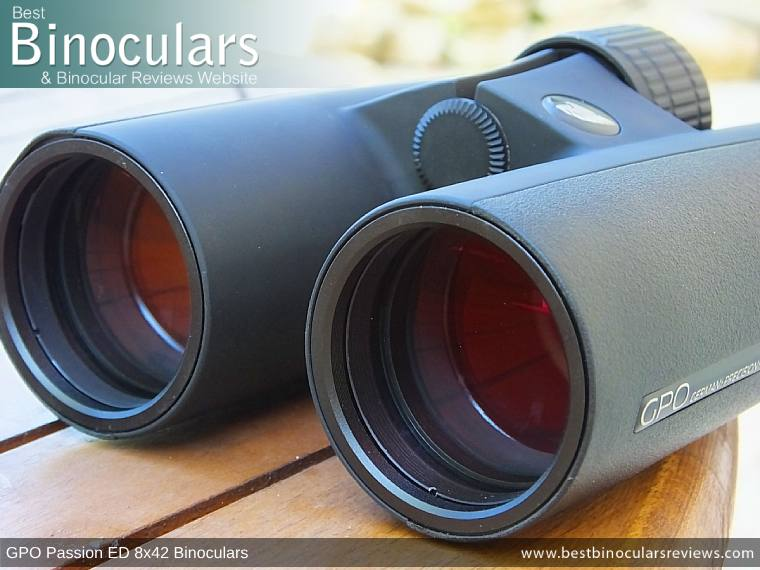 42mm Objective Lenses on the GPO Passion ED 8x42 Binoculars