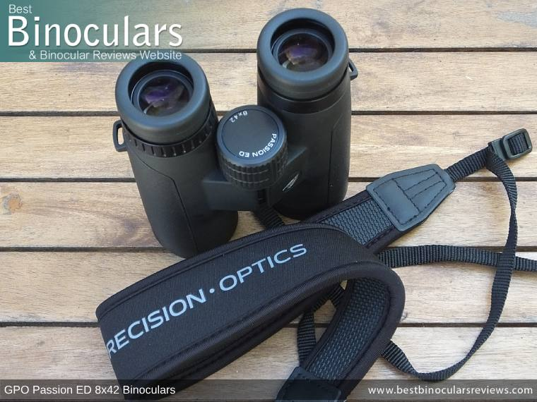 Neck Strap included with the GPO Passion ED 8x42 Binoculars